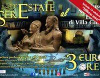 Ultima apertura serale straordinaria di Villa Giulia e di Villa Poniatowski