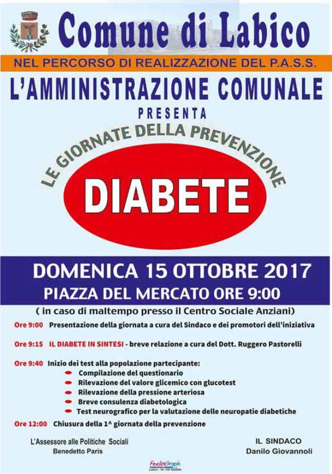 LABICO – Domenica 15 ottobre al via le giornate della Prevenzione