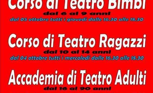 San Cesareo -Sono iniziati i corsi di teatro per bambini e ragazzi