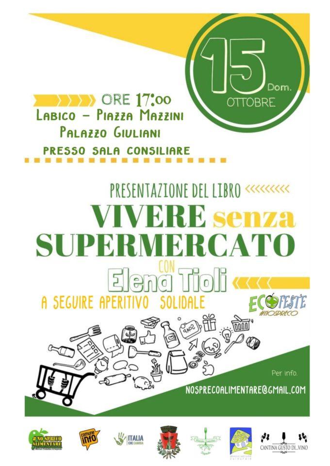 """""""Vivere senza supermercato"""", un libro e aperitivo solidale"""