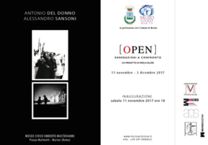 """Marino – Al Museo Civico si inaugura """"Open – Generazioni A Confronto"""""""