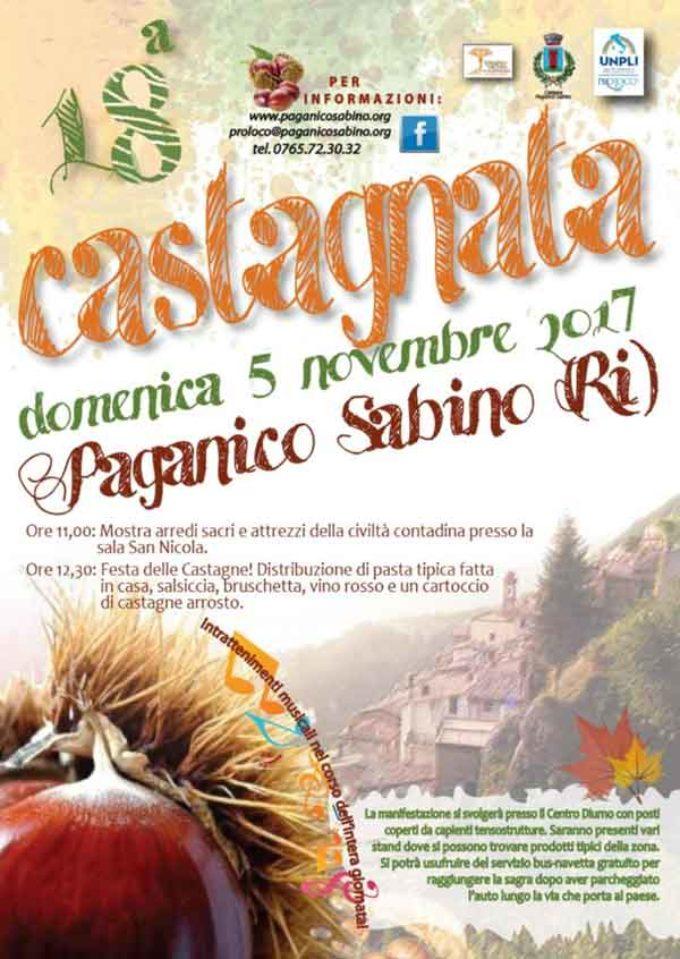 """Paganico Sabino (RI) riscopre il suo passato contadino con la """"Castagnata"""""""