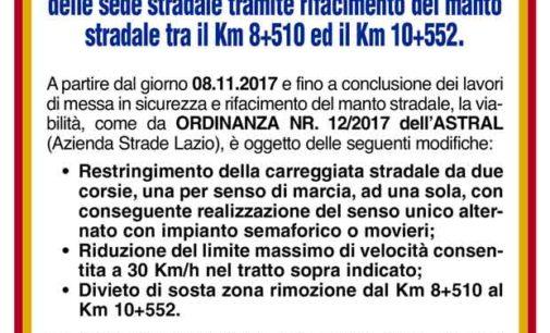 Albano Laziale, Cecchina: lavori ASTRAL su Via Nettunense e modifiche alla viabilità