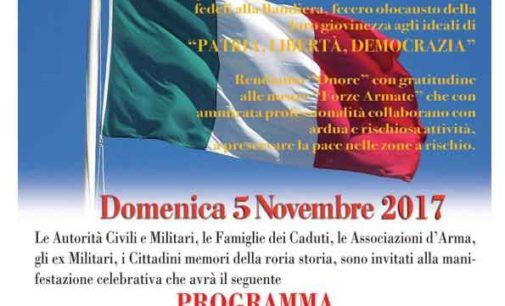 """Celebrazione della """"Giornata dell'Unità Nazionale  e delle Forze Armate"""""""