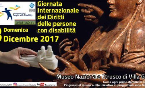 """Museo Nazionale Etrusco di Villa Giulia –  """"Giornata internazionale dei diritti delle persone con disabilità"""""""