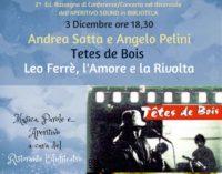 Leo Ferrè, l'Amore e la Rivolta: prima conferenza-concerto a Lanuvio