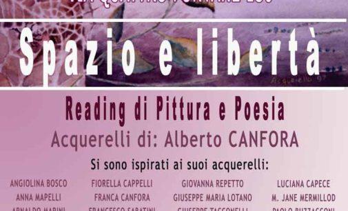 """Reading Pittura e poesia """"Spazio e Libertà"""" del Maestro Alberto Canfora"""