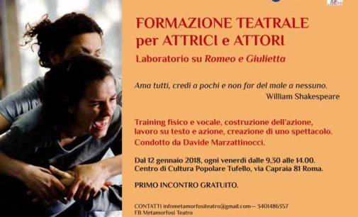 Formazione teatrale per attrici e attori