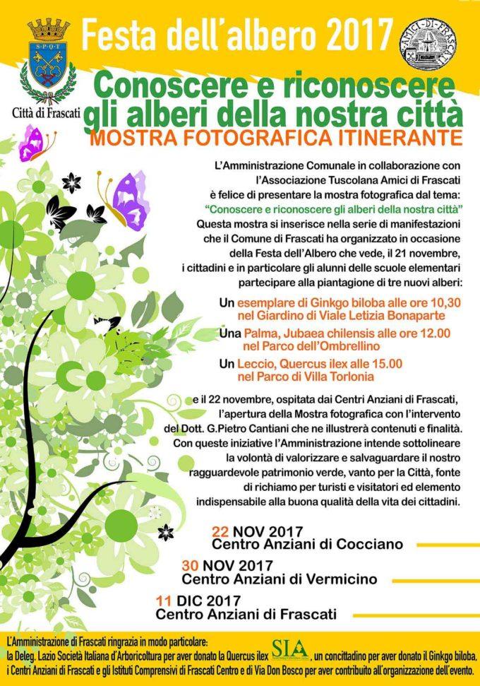 Frascati, arriva la Festa dell'Albero