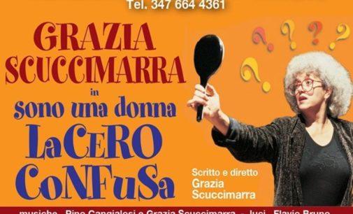 """Grazia Scuccimarra in """"Sono una donna  lacero confusa"""""""