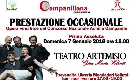 """Prima assoluta di """"Prestazione Occasionale"""": all'Artemisio-Volonté"""