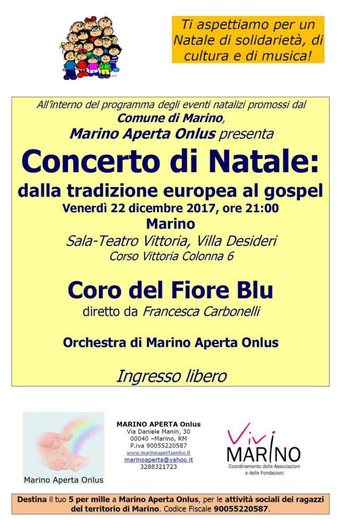 Marino –  Concerto del 22 dicembre Sala Teatro Vittoria