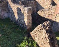 Pompei – Cedimento muro Casa della caccia ai Tori, Regio VI