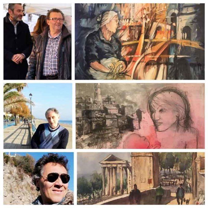 I 3 vincitori del I Concorso di Estemporanea di Pittura a Cori