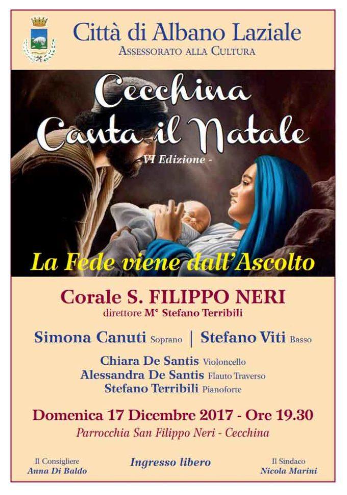 Albano Laziale, domenica 17 dicembre torna Cecchina canta il Natale
