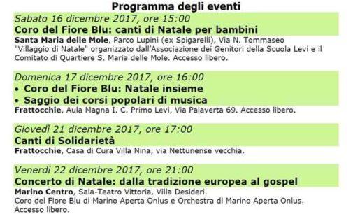 Marino Aperta Onlus:  il programma del Natale in Famiglia