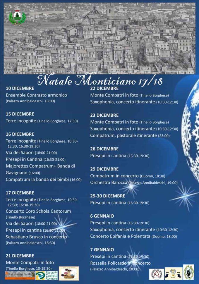 Monte Compatri, il calendario del Natale Monticiano