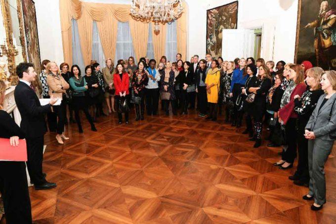 Private fashion show di Michele Miglionico all'ambasciata d'Italia a Londra