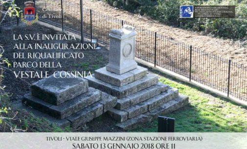 Inaugurazione del Parco della Vestale Cossinia