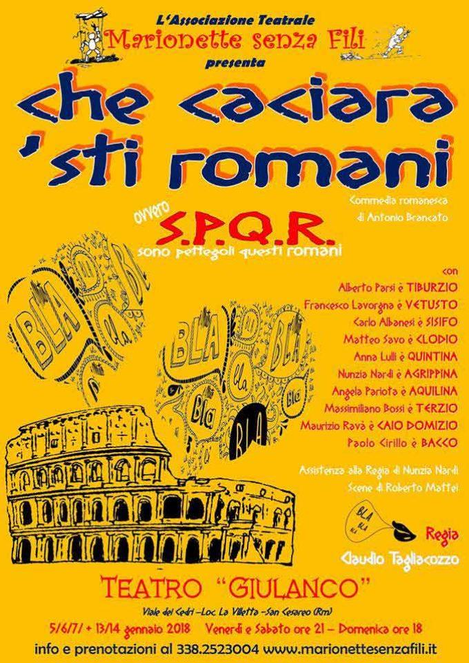 """San Cesareo – """"CHE CACIARA STI ROMANI"""""""