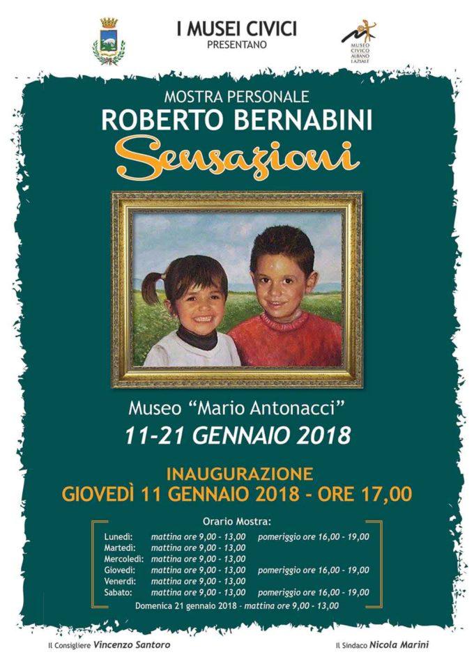 Albano Laziale, Museo Civico inaugurazione della mostra del pittore Roberto Bernabini