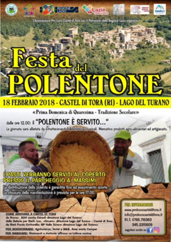 Castel di Tora (RI),  il polentone è servito