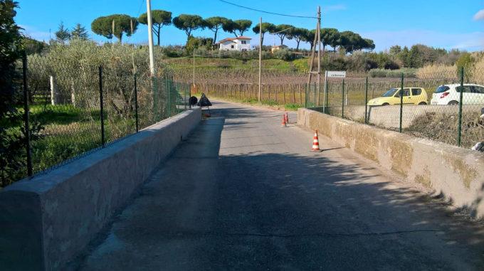 Velletri, riparato il ponte di Via Colle Perino
