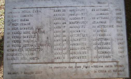 Velletri – 27 Gennaio, Priori: 'I luoghi della Memoria vanno onorati ogni giorno con il decoro e il rispetto'