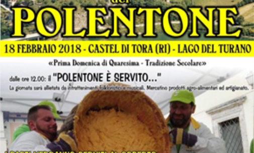Castel di Tora (RI), la prima domenica di Quaresima il polentone è servito