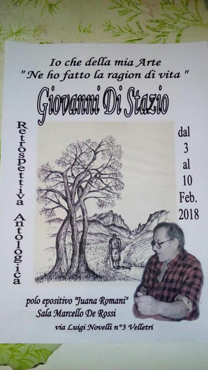 Retrospettiva Antologica di Giovanni Di Stazio dal 3 al 10 febbraio 2018 al polo espositivo Juana Romani