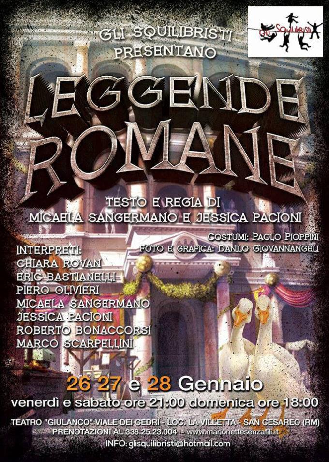 """San Cesareo –  """"Leggende Romane"""" Al Teatro Auditorium Giulanco"""