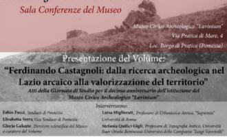 Ferdinando Castagnoli e il Lazio arcaico…