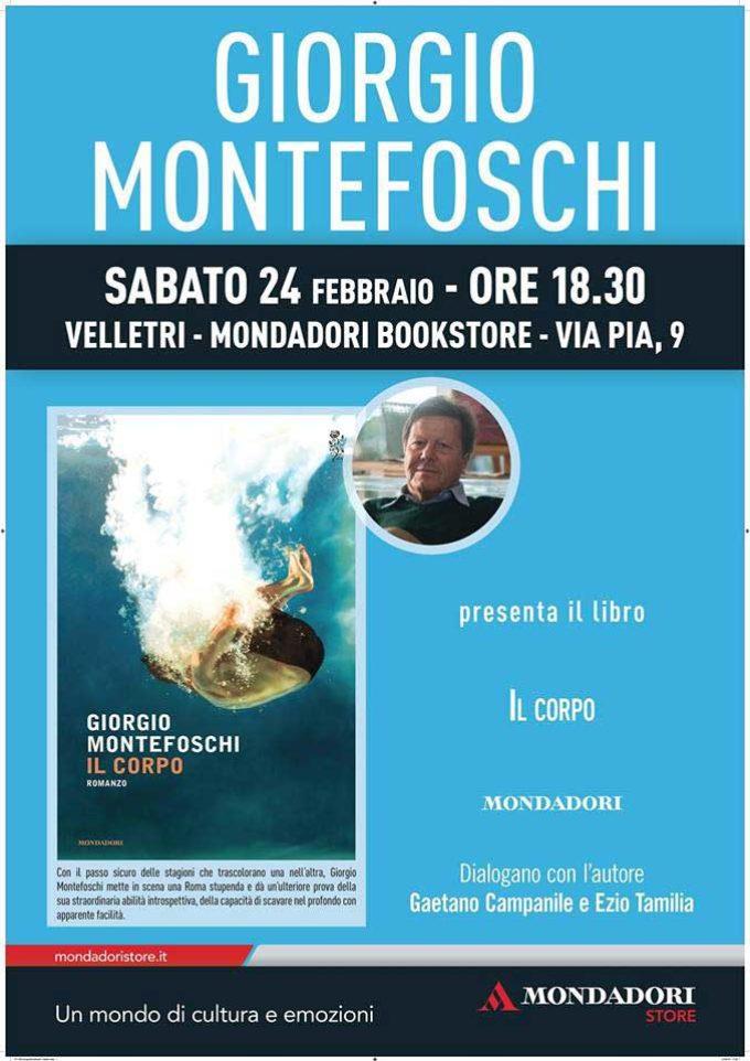 """Giorgio Montefoschi alla Mondadori di Velletri per presentare """"Il corpo"""""""