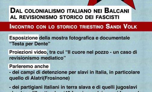 """Marino: """"Confine orientale, ricordo e falsità: mostra ed incontro con lo storico Sandi Volk"""""""