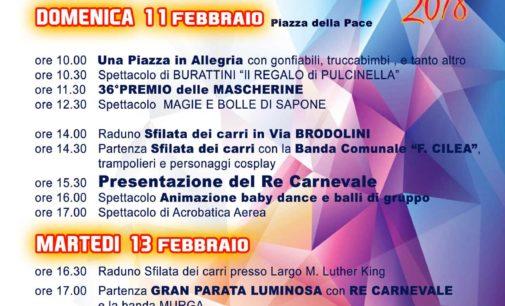 Carnevale Ciampinese 2018″. Domenica 11 e Martedì 13 Febbraio