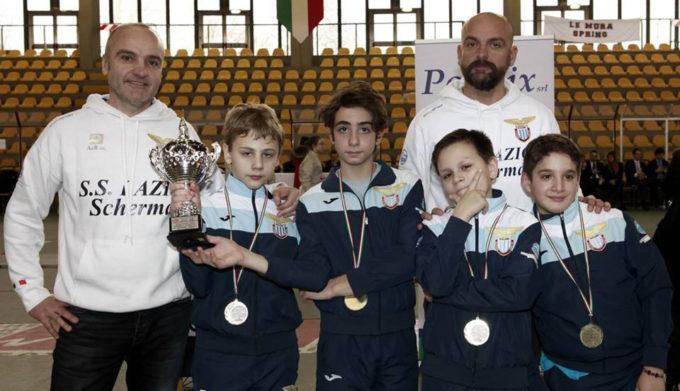 Giovanissimi della Lazio Scherma d'oro