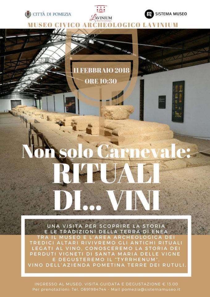 Domenica 11 Febbraio 2018                                       Non Solo Carnevale: Rituali Di…Vini