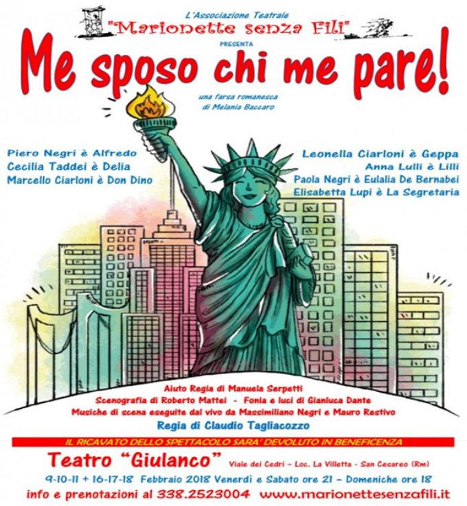 """Teatro Giulanco di S. Cesareo  – """"Me sposo chi me pare!"""""""