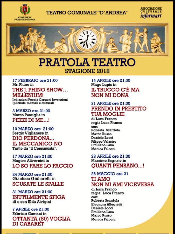 Presentata la stagione teatrale 2018 a Pratola Peligna