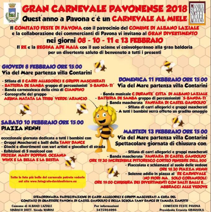 Albano Laziale, Carnevale 2018: il programma