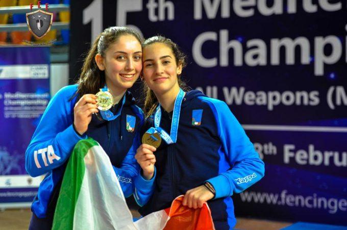 Frascati Scherma, doppia medaglia per Giovannelli e Ottaviani ai campionati del Mediterraneo
