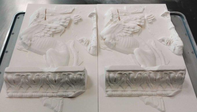ENEA – In mostra ai Mercati di Traiano la ricostruzione in 3D del Fregio delle Sfingi