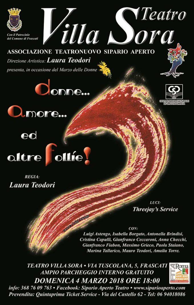 Teatro Villa Sora – Donne … Amore…e altre follie…