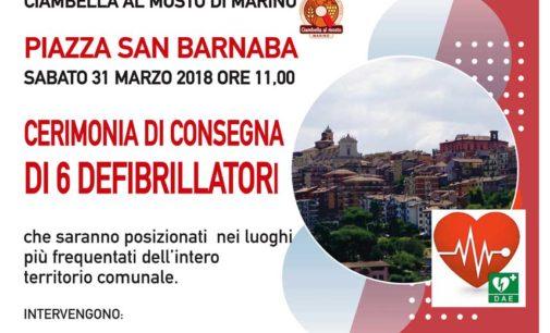 LA BCC Colli Albani dona 6 defibrillatori al comune di Marino