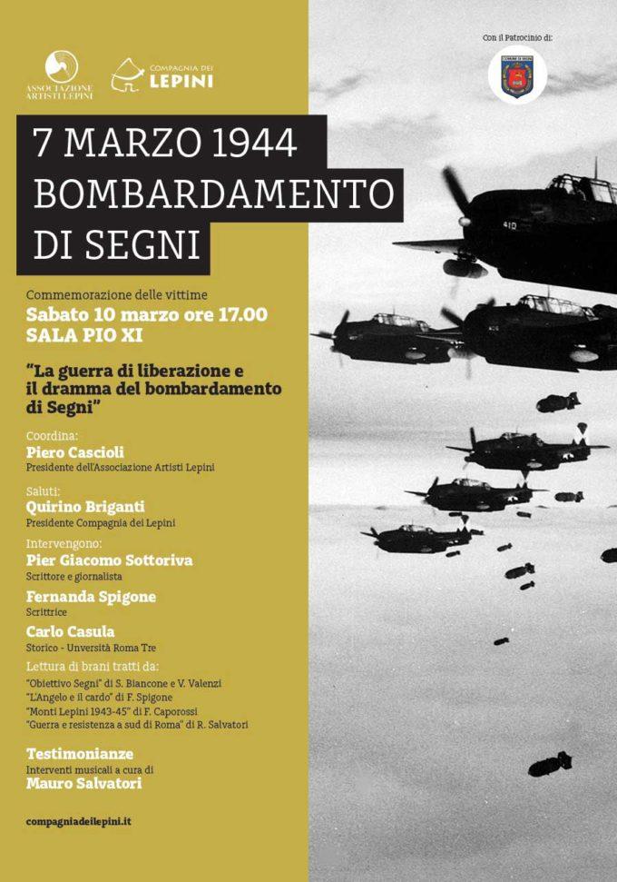 7 MARZO 1944: BOMBARDAMENTO DI SEGNI