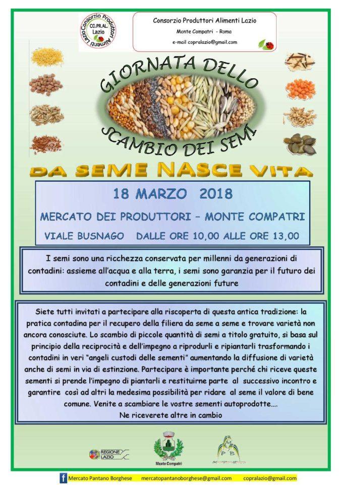Da seme nasce vita: giornata dello scambio di prodotti per la semina al mercato di Monte Compatri
