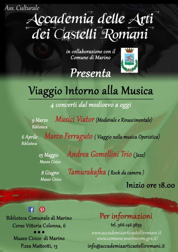 """Marino – AL VIA IL """"VIAGGIO INTORNO ALLA MUSICA"""""""