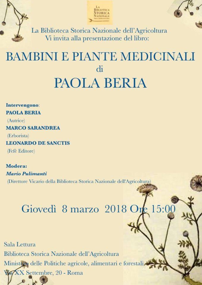 """8 marzo con """"Bambini e piante medicinali"""" alla biblioteca Agret III"""