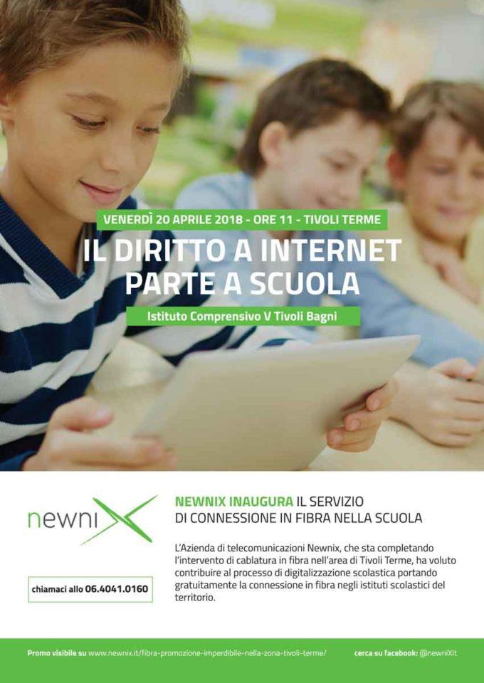 Tivoli Terme festeggia l'arrivo della fibra nelle scuole del territori