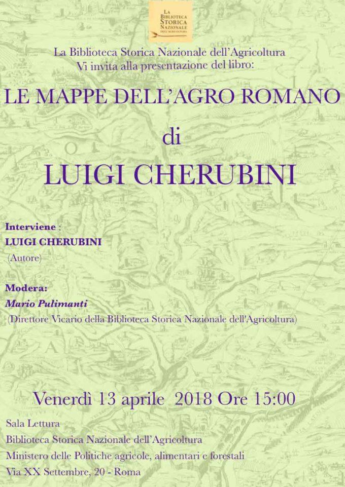 """Presentazione del libro (con proiezione di diapositive): """"Le mappe dell'Agro Romano"""""""